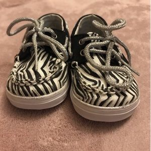 Zebra Sperry Shoes 1M